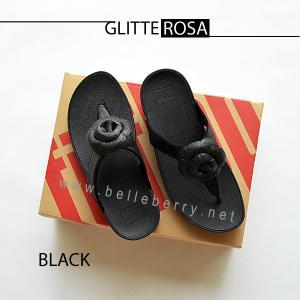 * NEW * FitFlop GLITTEROSA : Black : Size US 9 / EU 41