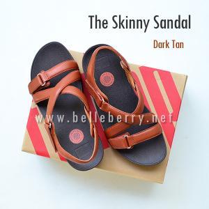 * NEW * FitFlop The Skinny Sandal : Dark Tan : Size US 8 / EU 39