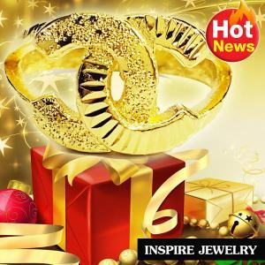 Inspire Jewelry ,แหวนทองตอกลาย งานอินเทรนชั้นนำ สุดหรู พร้อมถุงกำมะหยี่ สวยหรูสำหรับคนพิเศษ ใส่เอง เป็นของขวัญของฝาก วาเลนไทน์ วันเกิด ตรุษจีนฯลฯ
