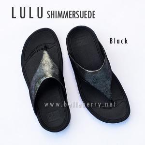 FitFlop LULU Shimmersuede : Black : Size US 5 / EU 36