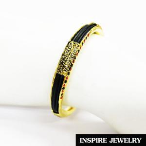 Inspire Jewelry ,กำไลหางช้าง ชุบทอง100% 24K งานลงยาคุณภาพ เป็นเครื่องประดับหมามงคลอย่างมาก นำโชค เสริมดวง เสริมอำนาจวาสนา ป้องกันสิ่งอัปมงคล