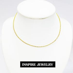 inspire jewelry โชคเกอร์คอ CH01-สีทองแบบสปริงตัดลายวิ้งๆ
