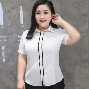เสื้อเชิ้ตทำงานไซส์ใหญ่ เสื้อเชิ้ตแขนสั้นสีขาว ติดกระดุมหน้า (3XL,4XL,5XL,6XL,7XL,8XL,9XL)