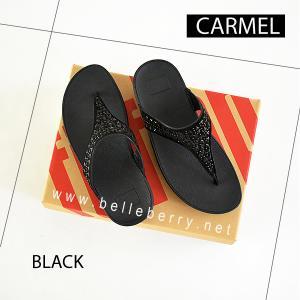 **พร้อมส่ง** FitFlop : CARMEL Toe-Post : All Black : Size US 5 / EU 36