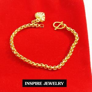 Inspire Jewelry ,สร้อยข้อมือเด็กลายบล็อค ยาว 12cm. พร้อมถุงกำมะหยี่สวยหรู
