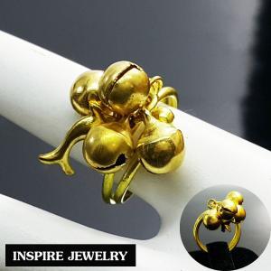 INSPIRE JEWELRY แหวนกระดิ่ง มีเสียง น่ารัก เรียกทรัพย์ได้(ตามความเชื่อ) พร้อมถุงซิบแดง ตัวเรือนขึ้นด้วยทองเหลืองนอก