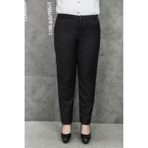 ♥พร้อมส่ง♥ กางเกงทำงานขายาวสีดำสำหรับสาวอวบ (ไซส์ 40 เอว 38 ยืด 44)