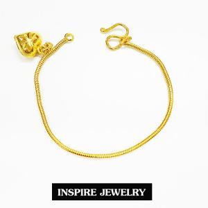 Inspire Jewelry ,สร้อยข้อมือเด็กลายกระดูกงูกลมขัดมัน ยาว 12cm. พร้อมถุงกำมะหยี่สวยหรู