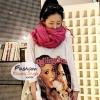 ผ้าพันคอแฟชั่นเกาหลีสีพื้น Hot Basic : สีชมพูเข้ม CK0289