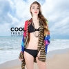 ผ้าคลุมชุดว่ายน้ำ ผ้าคลุมชายหาด ผ้าชายทะเล SH759 : ผ้าชีฟอง size 150x100 cm สำเนา