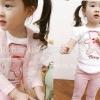 ชุดแฟชั่นเกาหลี เด็กผู้หญิง เสื้อ กางเกง รูปหมี มีไซส์ 90 100 120