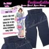 ไซส์36 เอาใจสาวอวบ #สกินนี่เอวสูงที่กำลังฮิต# PB887 Highwaist๋JeanSkinnyกางเกงสกินนี่ 5 ส่วนเอวสูงเก็บหน้าท้องดีสวยยีนส์ฟอกผ้ายืดญี่ปุ่น สียีนส์เข้ม