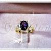แหวนพลอยเพชรข้างละเม็ด gold plated 0.5microns