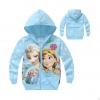 เสื้อกันหนาวเด็ก ลาย หิมะ สีฟ้า Frozen มีไซส์ 95 100 110 120
