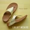 **พร้อมส่ง** รองเท้า FitFlop LULU WEAVE : Pale Gold : Size US 7 / EU 38