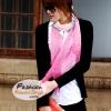 ผ้าพันคอแฟชั่นสวยหรู Luxury : สีชมพูครีม CK0043