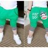 กางเกงเด็ก ลาย Paul Frank สีเขียว มีไซส์ 100 110 120 130 140