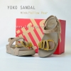 SALE :: Size US 9 / EU 41 *พร้อมส่ง* YOKO SANDAL : Mink / Yellow Pear