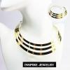 INSPIRE JEWELRY โชคเกอร์คอสีทอง สวยงาม เหมาะกับการใส่โชว์