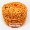 ไหม Cotton Shiny รหัสสี 03 สีเหลือง