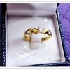 แหวนเพชรเล็ก gold plated 1microns