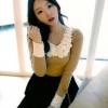 ♥♥พร้อมส่งค่ะ♥♥ ชุดทำงานแขนยาว เสื้อไหมพริมเนื้อนิ่ม โทนสีน้ำตาลสวย แต่งดอกไม้สีขาว บริเวญช่วงคอ ปลายแขนเสื้อสีขาว สวย น่ารัก