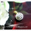 จี้เพชร gold plated 1microns / white gold plated