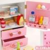 ชุดตู้เย็นสตรอเบอร์รี่ สีชมพู ของ Mother Garden (Mother Garden Strawberry Pink Fridge Set)