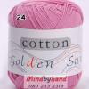 ไหมพรม Cotton 100% รหัสสี 24 Pink