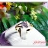 แหวนเพชรตัวอักษร gold plated 1 microns/white gold plated