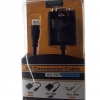 สายแปลง Mini HDMI เป็น VGA แบบมีวงจรถอดรหัส ( MiniHDMI to VGA cable with DAC )