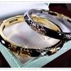 กำไลนิลลายไทย gold plated 1microns/white gold plated