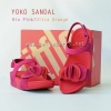 **พร้อมส่ง** รองเท้า FitFlop YOKO SANDAL : Rio Pink / Ultra Orange : Size US 5 / EU 36