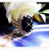 แหวนนิลล้อมเพชร gold plated 5microns,white gold plated