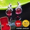 "Inspire Jewelry ต่างหูห่วงขาล็อคหลัง สูง 1.5cm.พลอยประจำวันเกิด วันอาทิตย์ คนเกิดวันอาทิตย์ ควรใช้เครื่องประดับ หรือ อัญมณีที่เป็น สีแดง เรียกว่า ""รัตนาภรณ์"" ได้แก่ ทับทิม (Ruby) ดีไซด์ด้วยเพชร CZ พร้อมกล่องกำมะหยี่"