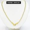Inspire Jewelry ,สร้อยคอเม็ดอิตาลี 2 กษัตริย์ 24 นิ้ว (ขนาดเม็ด 8 มิล) สวยหรู คงทน งานคุณภาพ