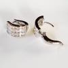 INSPIRE JEWELRY ต่างหูเพชรสวิส งานจิวเวลลี่ white gold plated / diamond clonning