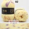 ไหมพรม Milk Cotton สีเหลือบ รหัสสี M02