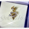 จี้เพชร gold plated 5microns/white gold plated