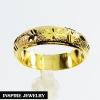 Inspire Jewelry ,แหวนทองตอกลาย ทำซาติน แบบร้านทอง พร้อมถุงกำมะหยี่