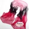 ผ้าพันคอแฟชั่นสวยหรู Luxury : สีแดงดำ CK0005