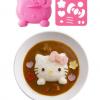 พิมพ์กดข้าว ข้าวแกงกะหรี่ ลาย คิตตี้ Hello Kitty -- พร้อมเพลตกดผัก แฮม ชีส สาหร่าย โบโลน่า ไข่เจียว เพื่อตกแต่ง