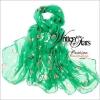 ผ้าพันคอแฟชั่น ลายลิง Paul Frank : สีเขียว CK0392