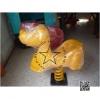 PP-toro04 สปริงโยกเยกสุนัขสีเหลือง