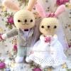 ตุ๊กตาแต่งงาน ของขวัญแต่งงาน(สูง45ซ.ม.)