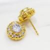 ต่างหูเพชร diamond clonning/gold plated 100%