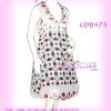 [อก38-42] สไตล์แบรนด์ KLOSET เชียร์สวยค่ะสาวอวบห้ามพลาด! LDB475: KlosetStyle Dress แซคผ้าชีฟอง ดีไซน์เก๋ เดรสแขนกุดมีปก ลายผ้าสวยทรงสวย ใส่ออกงานได้