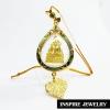 Inspire Jewelry , พระพุทธชินราช กรอบทองลงยา สำหรับแขวนหน้ารถ เป็นมงคล งาน Design สวยงามมาก