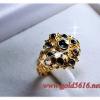แหวนหัวเพชรซีก gold plated 0.5microns