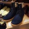 รองเท้าผู้ชาย | รองเท้าแฟชั่นชาย Dark Navy Boots หนังนูบัคแท้